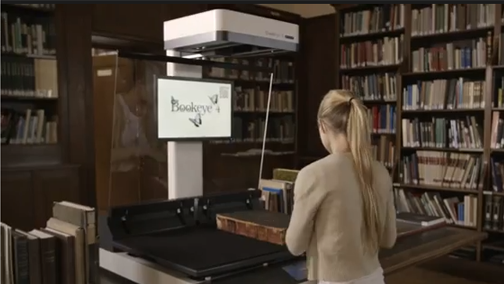 Watch videos of the Bookeye book scanners on location