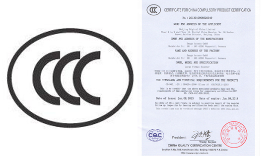 Image Access has received CCC certification for several WideTEK and Bookeye scanners.